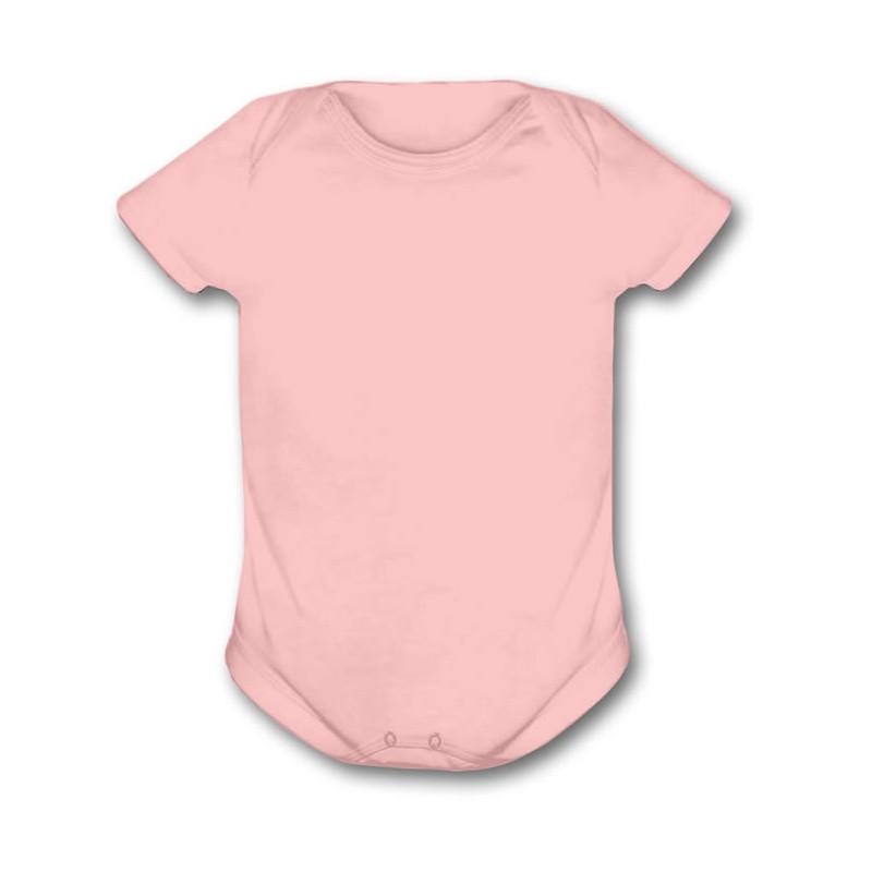 Body para Bebe Ribana Rosa Manga Curta - Valor Unitário