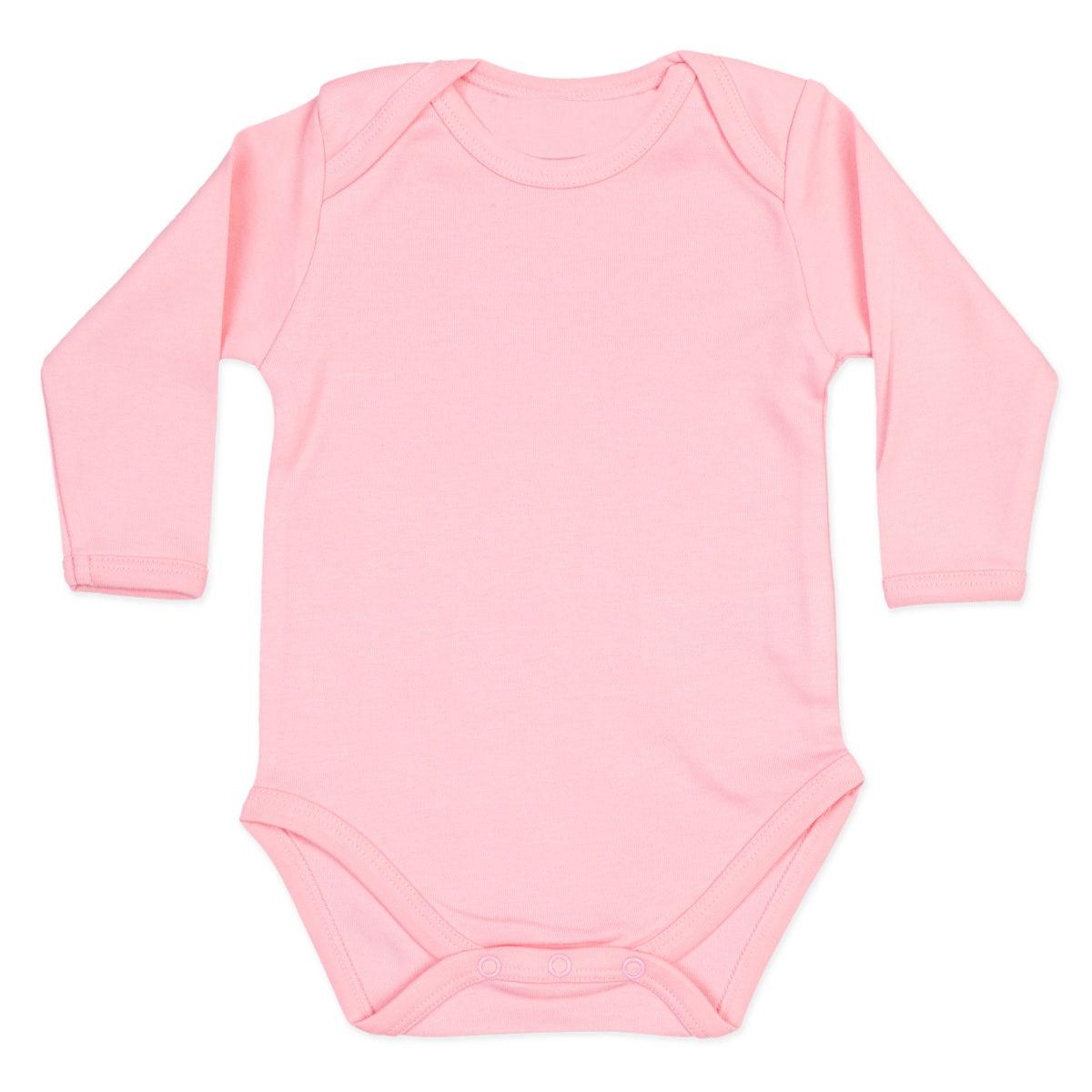 Body para Bebe Ribana Rosa Manga Longa - Valor Unitário