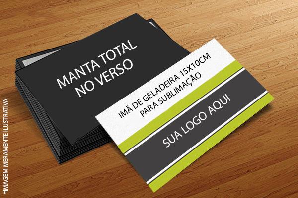 PLAQUINHA IMÃ RETANGULAR PARA SUBLIMAÇÃO 15x10 CM (Valor Unitário)