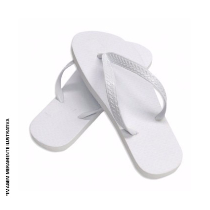 Chinelo Branco para Sublimação (Vários Tamanhos) - Valor Unitário