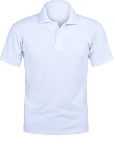 Camiseta Polo Branca 100% Poliéster