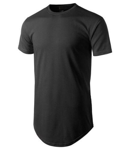 Camiseta Preta Longline Masculina 100% Poliéster para Sublimação