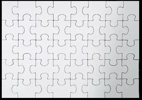Quebra-Cabeça Retangular 40 peças Para Sublimação