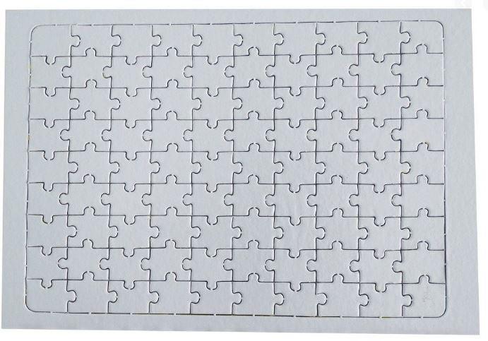 Quebra-Cabeça Retangular 90 peças Para Sublimação - Valor unitário