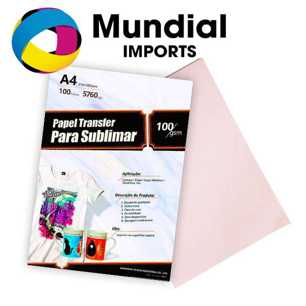PAPEL SUBLIMÁTICO A4 FUNDO ROSA - PACOTE COM 100 FOLHAS