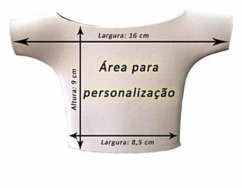 Porta lata camisetinha em neoprene para sublimação - Valor unitário