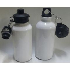 Squeeze em Alumínio Branco com tampa dupla (500 ml) - Valor unitário