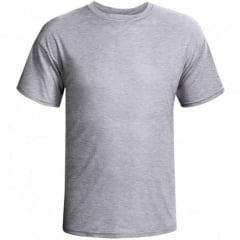 Camiseta Cinza Mescla 100% Poliéster para Sublimação
