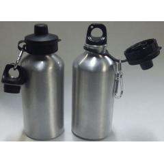 Squeeze Em Alumínio Prata Com Tampa Dupla (600 ml) - Valor Unitário