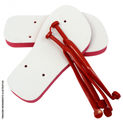 Chinelo Vermelho para Sublimação (Vários Tamanhos) - Valor Unitário