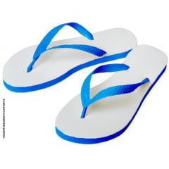 Chinelo Azul Royal para Sublimação (Vários Tamanhos) - Valor Unitário