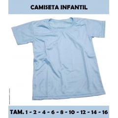 Camiseta Infantil Azul 100% Poliéster para Sublimação