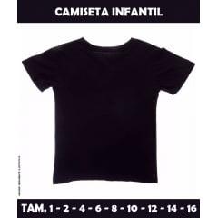Camiseta Infantil Preta 100% Poliéster para Sublimação