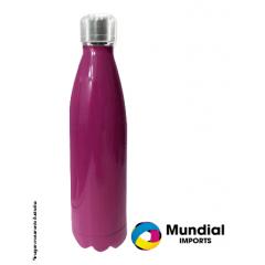 Garrafa Térmica Pink para Sublimação 500ml - Valor Unitário