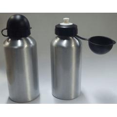Squeeze em alumínio prata (500 ml) com tampa redonda - Valor unitário
