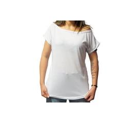 Camiseta Branca Gola Canoa