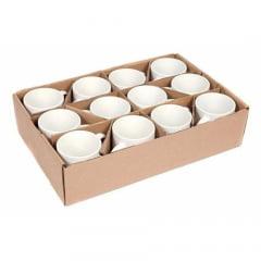12 Canecas Brancas de Cerâmica Mr Mug para Sublimação 325ml AAA