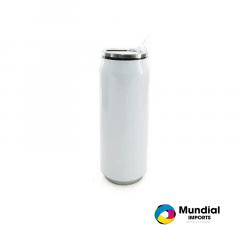 Latinha Coca-Cola Inox Branca 500 ML