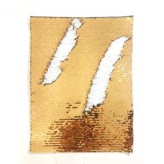 Aplique lantejoula retangular 21x28 cm