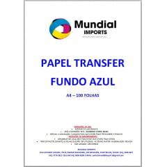 Papel Sublimático A4 para transfer FUNDO AZUL - Pacote com 100 folhas