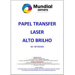 Papel Transfer Laser Para Acrílicos Tamanho A4 Alto Brilho - Pacote com 50 folhas