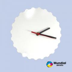 Relógio MDF Engrenagem Redondo 20 cm sem número