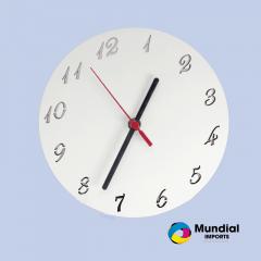 Relógio MDF Redondo 20 cm com número